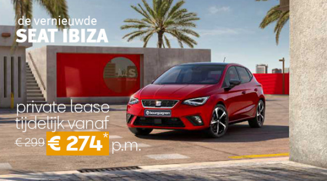 Banner homepage SEAT IBIZA